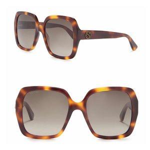 [ new ] Gucci GG0096 Square Oversized Sunglasses